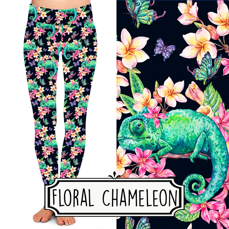 Yoga Style Leggings - Floral Chameleon by Eleven & Co.