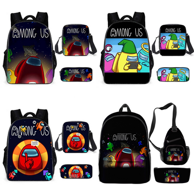 Among Us 3 Piece Backpack/Shoulder bag/Pencil Bag