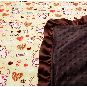 Fletcher Lane: Puppies Minky Blanket