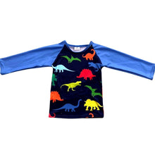Load image into Gallery viewer, ComfyCute Long Sleeved Tee - Primary Prehistoric Pals