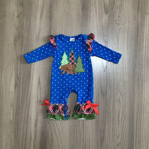 Bear Lodge Holiday Ruffle Romper