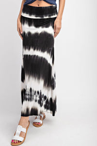 On The Move Tie Dye Maxi Skirt