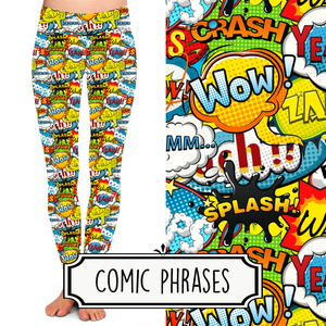 Yoga Style Leggings - Comic Phrases by Eleven & Co.