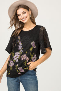 The Eloquently Embroidered Top