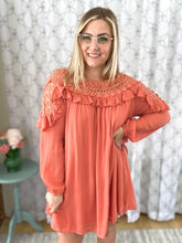 Load image into Gallery viewer, Deep in Love Dress in Salmon