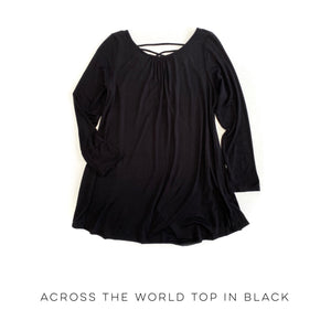Across the World Top in Black