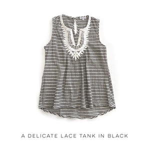 A Delicate Lace Tank in Black