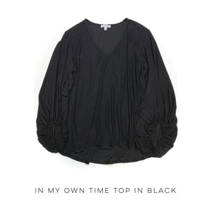 In My Own Time Top in Black