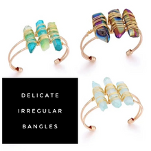 Load image into Gallery viewer, Irregular Quartz Bangle