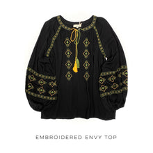 Load image into Gallery viewer, Embroidered Envy Top
