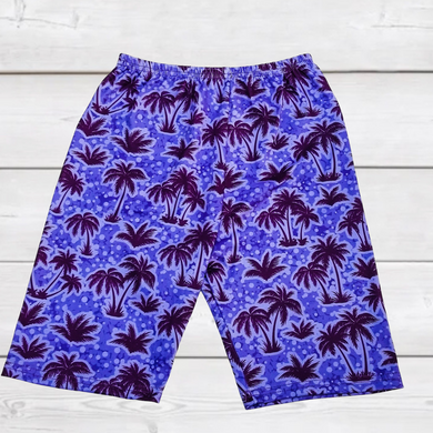 ComfyCute Shorties - Blurple Palm Trees