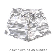 Load image into Gallery viewer, Gray Skies Camo Shorts