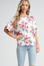 Load image into Gallery viewer, Frills & Floral Top