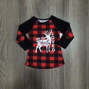 You Are Deerly Loved Buffalo Plaid Tee