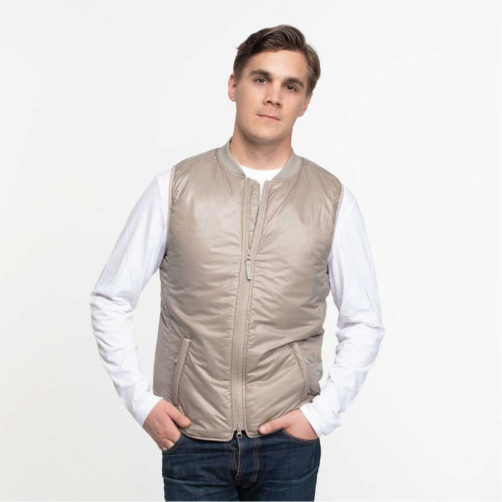 Heated Vest Men Beige (no battery)