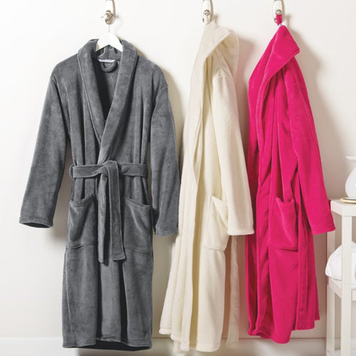 Plush Microfleece Robe- 3 Colors To Choose From