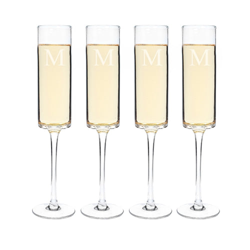 8 oz. Contemporary Champagne Flutes (Set of 4)