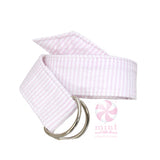 Monogrammed Seersucker Belt- Choose Color