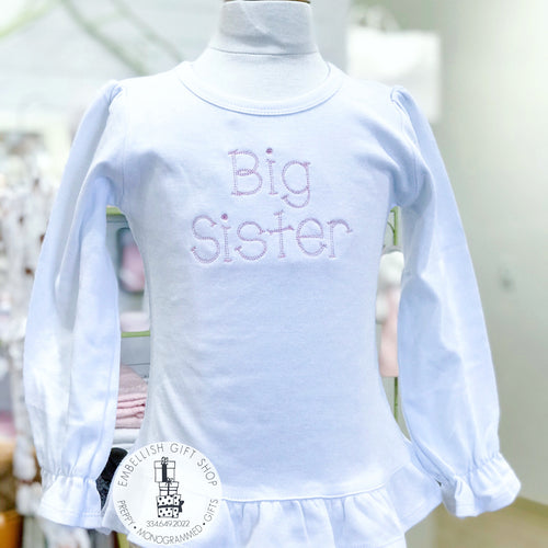 Big Sister Personalized Tee Shirt