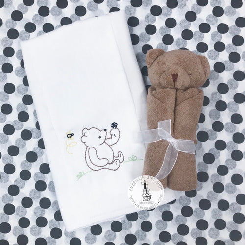 Bear Personalized Baby Lovie Gift Set