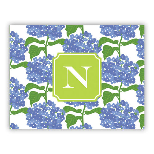 Personalized Folded Note Cards Sconset Blue