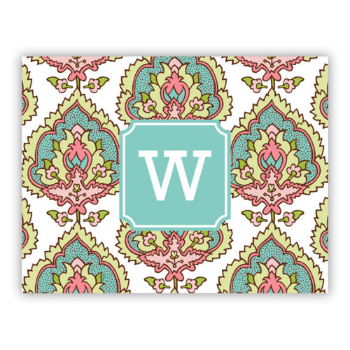 Personalized Folded Note Cards Cora Spring
