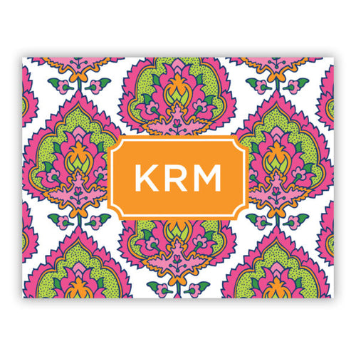 Personalized Folded Note Cards Cora Summer