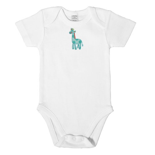 Personalized Blue Jolly Giraffe Onesie