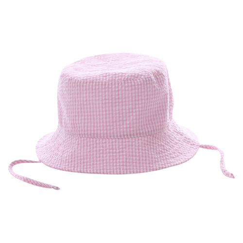 Seersucker Preppy Monogrammed Children's Bucket Hats