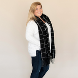 Adaline Black Plaid Scarf Lifestyle