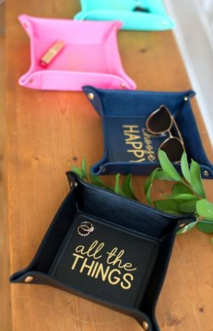 Personalized Trinket Trays Four Phrases
