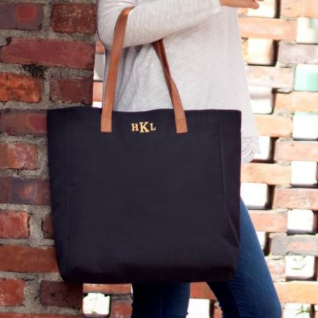 Personalized Tote Black with monogram