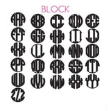 Block Font Three Letter Monogram