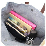 Interior View Jute Book Tote Choose Color Jute Pattern