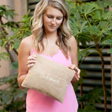 Bridal Party Burlap Zip Pouch Bridesmaid