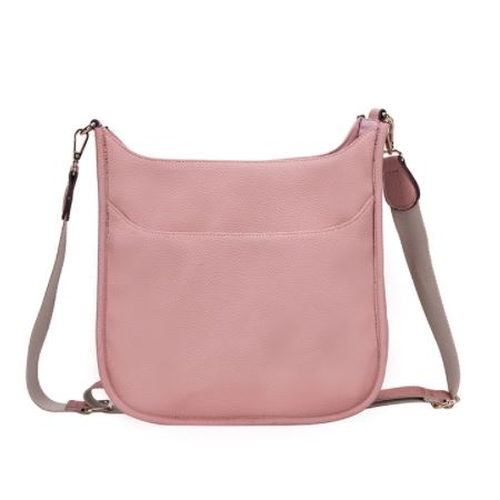 Charlotte Crossbody Bag Blush Leather