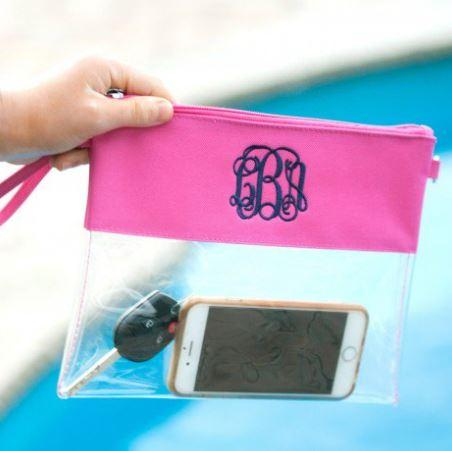 Hot Pink Clear Personalized Purse