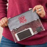 Houndstooth Clear Personalized Purse
