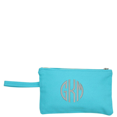 Clutch Turquoise with Monogram