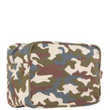 Camo Canvas Lined Travel Kit-Two Colors Back Side View