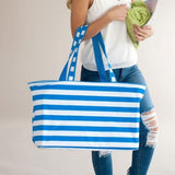 Stripe Ultimate Tote 4 Colors Electric Blue Stripe