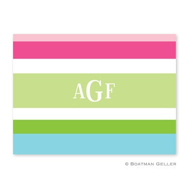Personalized Folded Note Cards Espadrille Preppy