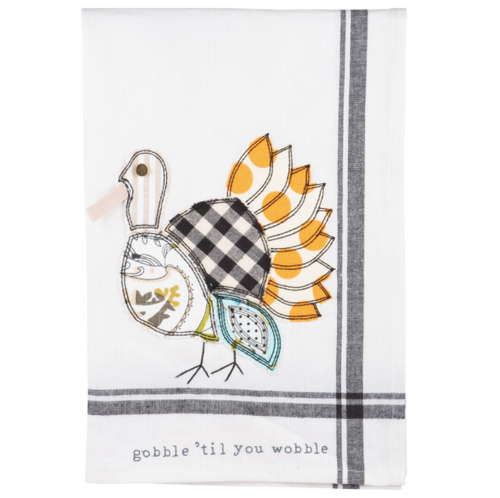 Gobble Til You Wobble Tea Towel