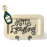 Gold Small Dot Happy Everything Platter with Attachment