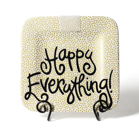 Gold Dot Happy Everything Square Platter
