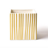 Gold Stripe Mini Nesting Cube Back
