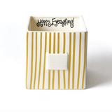 Gold Stripe Mini Nesting Cube Front