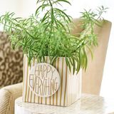 Gold Stripe Mini Nesting Cube Lifestyle