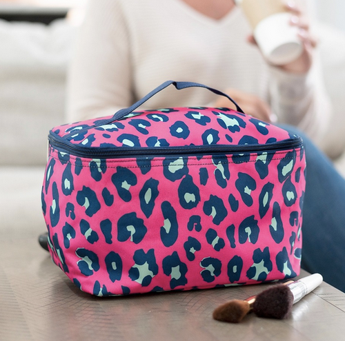 Lifestyle Cosmetic Bag Hot Pink Leopard