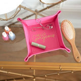 Lifestyle Hot Pink Personalized Trinket Tray Hello Gorgeous